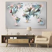 Low Poly карта мира (лоу поли карта мира)
