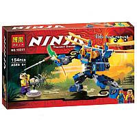 """10317 Bela Конструктор (аналог LEGO Ninjago 70754)  """"Летающий робот Джея"""" 154 детали"""