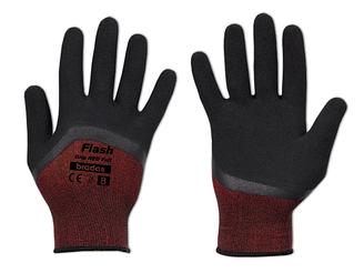 Перчатки защитные FLASH GRIP RED FULL латекс, размер  9, блистер, RWFGRDF9