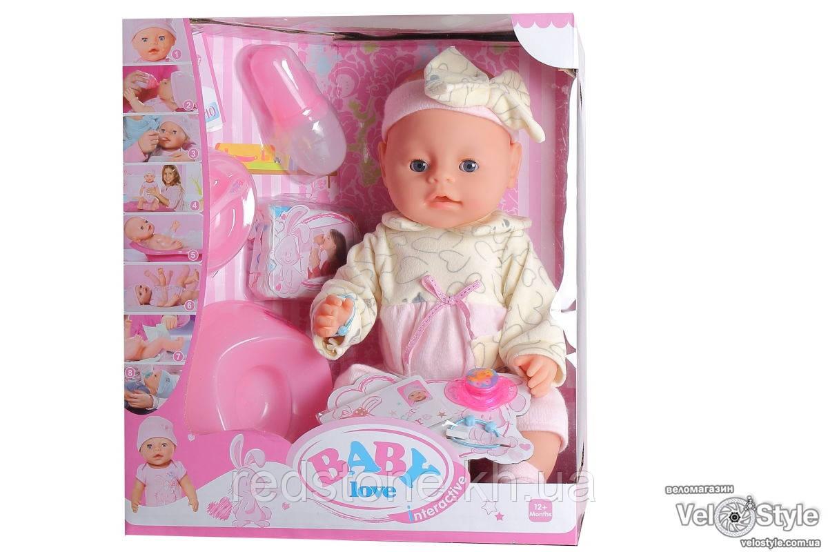 Пупс Baby Born Беби Борн с аксессуарами №3 (плачет,кушает,пьёт,ходит на горшок...)