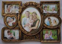 Фоторамка коллаж Family 7фото(5-10х15,1-20х25,1-10х10) бронз.