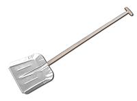 Лопата алюминиевая усиленная накладкой, с черенком 340х350мм, J5417