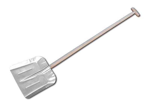 Лопата алюминиевая с черенком 340х350мм, J5412