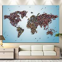 Карта мира из людей