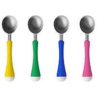 IKEA CHOSIGT Ложка для мороженого, желтая / зеленая, синяя / розовая  (902.082.46)
