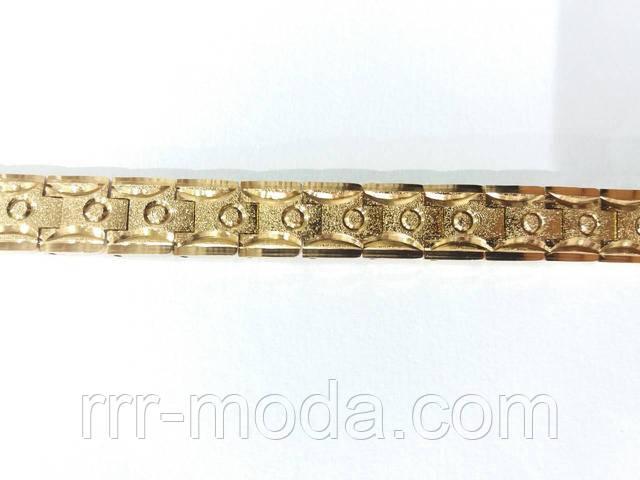 Мужские золотистые браслеты из стали с напылением оптом. Бижутерия оптом RRR в Украине.