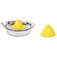 IKEA SPRITTA Цитрусовая соковыжималка, прозрачная, желтая нержавеющая сталь  (001.521.64)