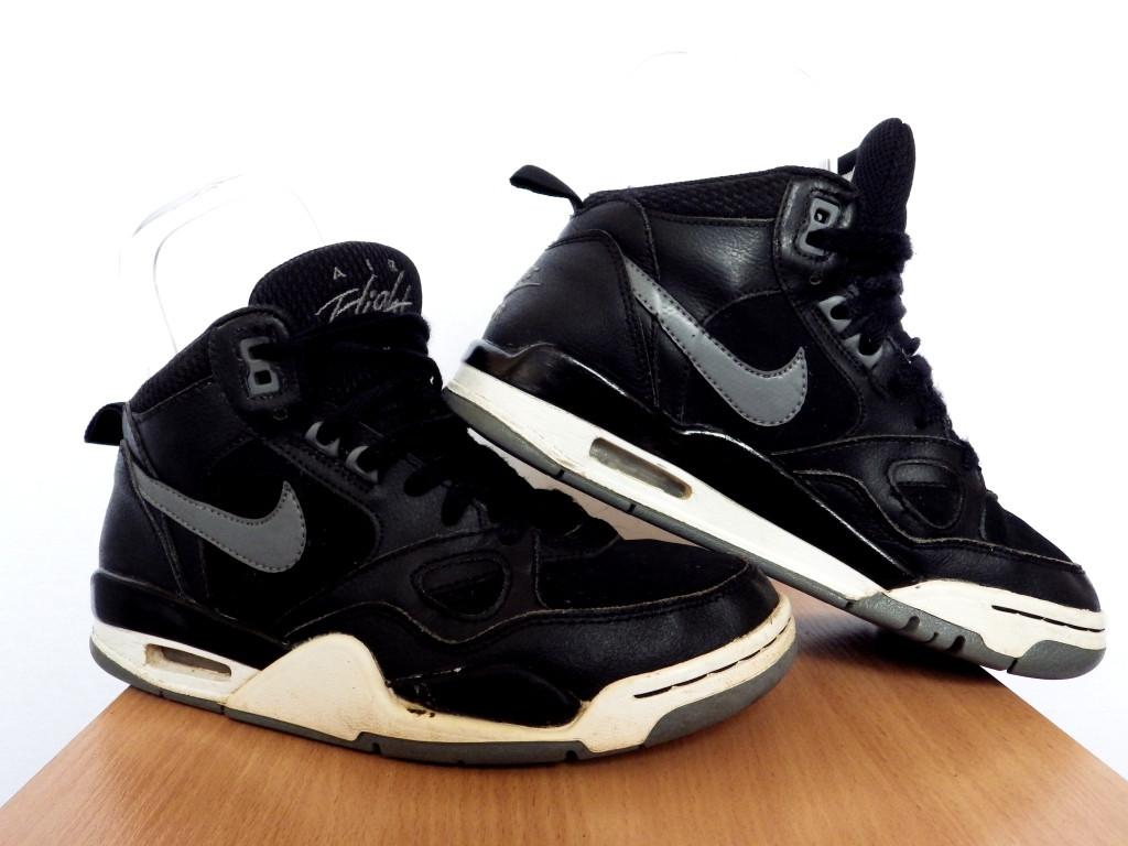 Кроссовки Nike Air Flight 13 100% ОРИГИНАЛ р-р 36,5 (23,5 см) (Б У, СТОК)  кожаные чёрные высокие найк jordan 338d7665222