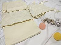 Бортики в кроватку + постельное белье для новорожденных