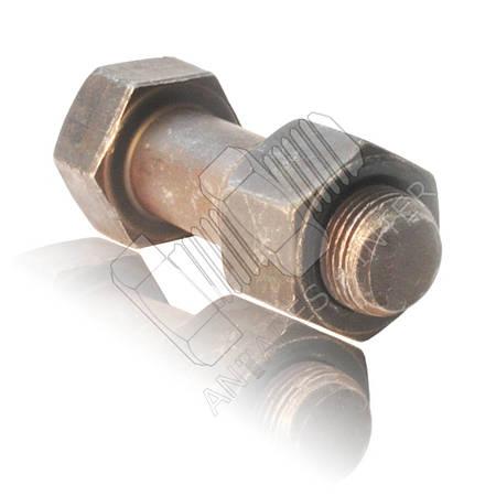 Болт башмачный с гайкой для гусеничной техники | комплект | М20х1.5х62 ГОСТ 11674-75