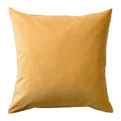 Чехол на подушку, золотисто-коричневый, 50x50 см IKEA SANELA 803.701.63