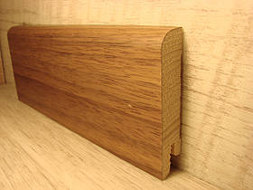 Плинтус деревянный напольный шпонированный Орех Американский 15*70*2400мм