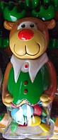 Новогодняя Игрушка с конфетами в шоколадной глазури олень 150 грамм