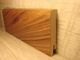 Плинтус деревянный напольный шпонированный Орех Европейский 15*70*2400мм