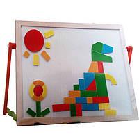 Деревянная магнитная доска для рисования с геометрическими фигурами