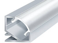 Алюминиевый профиль ЛПУ-17 Премиум, комплект рассеиватель+2 заглушки