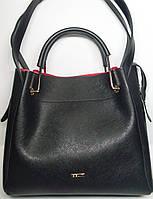 """Женская кожаная сумка """"B'Elit"""" черного цвета"""