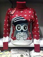 Женские свитера с Новогодним принтом, в расцветках