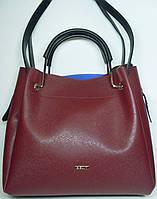 """Женская кожаная сумка """"B'Elit"""" бордового цвета"""