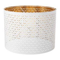 Абажур, белый, желтая медь, 44 см IKEA NYMÖ 103.772.19