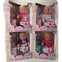 """Пупс большой, упакован в подарочную полупрозрачную коробку  функциональный """"Baby birth"""""""