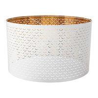 Абажур, белый, желтая медь, 59 см IKEA NYMÖ 503.408.32