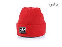 Красная шапка адидас, качественная шапка