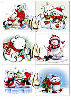 Печать вафельной (рисовой) или сахарной картинки на рождество или новый год на капкейки, печенье, пряники