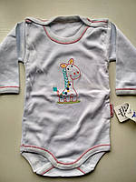 Бодик Жираф белый для мальчика, фото 1