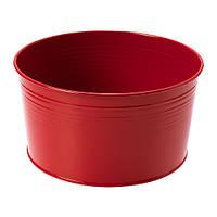 Кашпо, д/дома/улицы, красный IKEA SOCKER 603.634.70