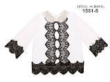 Школьная нарядная блузочка с воротником из биссера МОНЕ р-ры 122,128,140,146,152, фото 5
