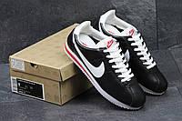 Кроссовки женские Nike Cortez черные с белым Вьетнам