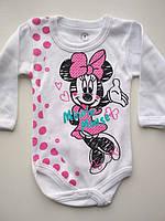 Модный бодик на девочку Minnie Mouse, фото 1