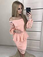 Платье + съёмная баска женское ботал НОБ087/1, фото 1