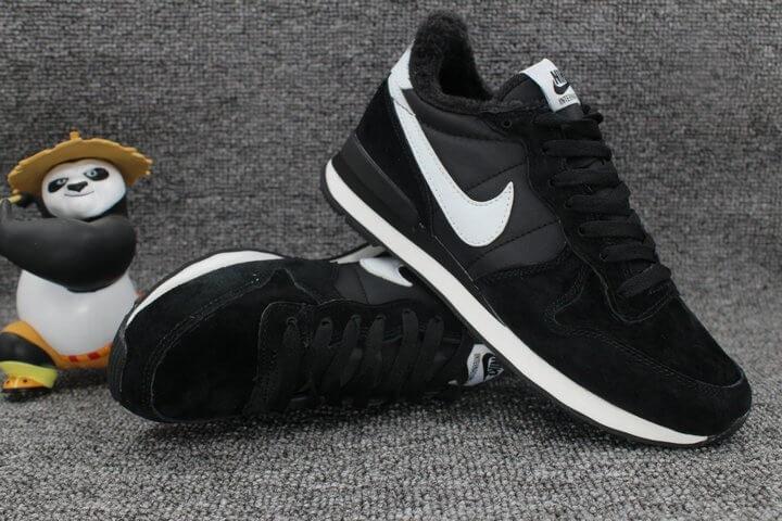 Женские кроссовки Nike Internationalist Black White С МЕХОМ -  Интернет-магазин