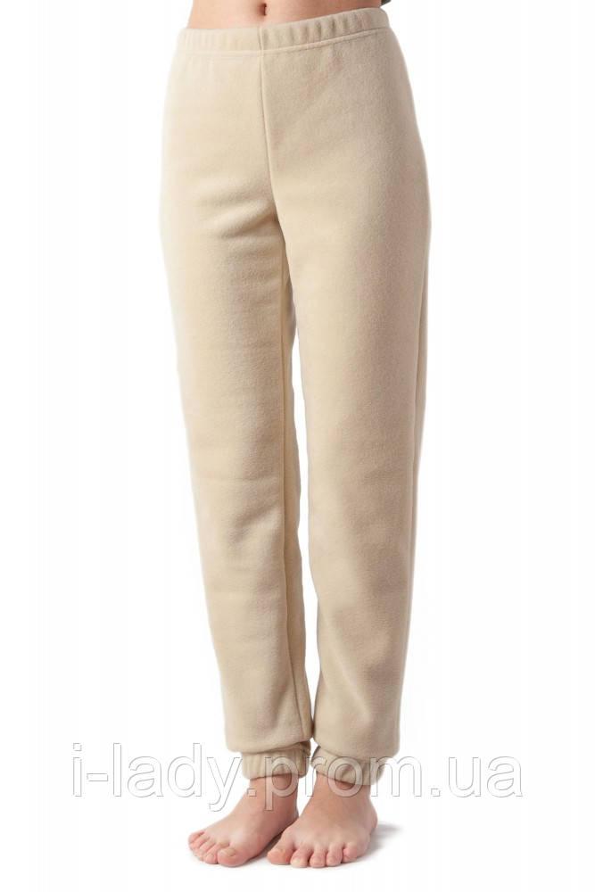 7f17f0b8e404 Теплые мягкие зимние женские флисовые штаны бежевого цвета