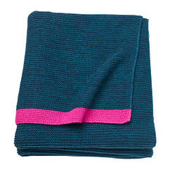 Плед, синий, розовый, 130x170 см IKEA LISAMARI 703.522.87