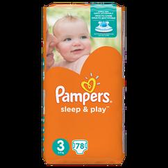 Подгузники Pampers Sleep&Play Midi 3 (4-9 кг) JUMBO PACK 78 шт.