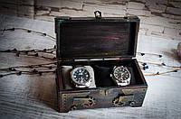 Деревянная шкатулка для часов и для украшений