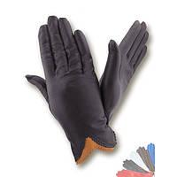Женские перчатки из натуральной кожи без подкладки модель 002.