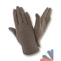 Женские перчатки из натуральной кожи без подкладки модель 005.