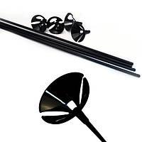 Палочки для шаров, держатели для шаров черные 30 см