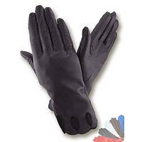 Женские перчатки из натуральной кожи без подкладки модель 009.
