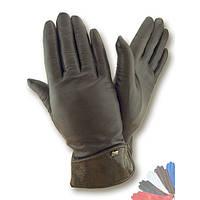 Женские перчатки из натуральной кожи на шерстяной подкладке модель 006.