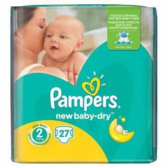Подгузники Pampers New Baby-Dry Mini 2 (3-6 кг) 27 шт.