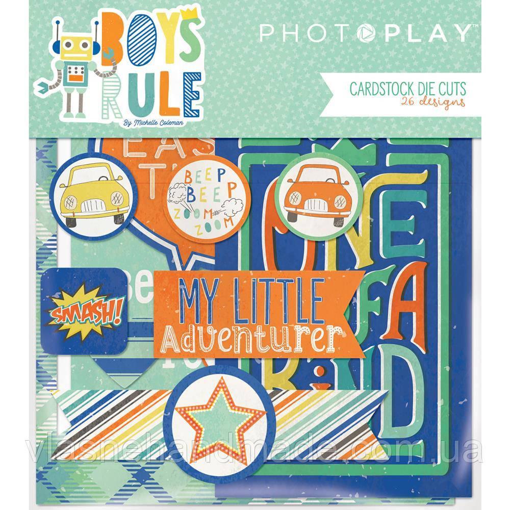 Висічки - Photo Play - Boys Rule - 26 pkg