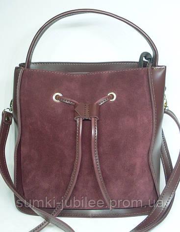506521bce8cc Модная женская замшевая сумка с бантиком бордового цвета   продажа ...