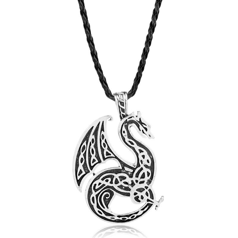 Кулон скандинавский дракон