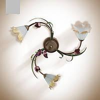 Люстра с цветком тюльпана для спальни, кухни, прихожей 473-4