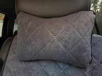Автоподушка подголовник темно-серая, фото 1